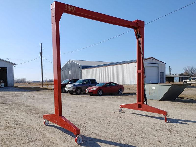 I-Lift 2-ton 12x12 Gantry Crane - Red